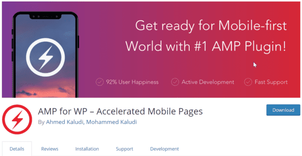 AMP for WP Plugin Review 2019