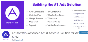 Ads for WP Wordpress plugin by Magazine3
