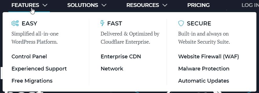 easy fast secure wordpress hosting