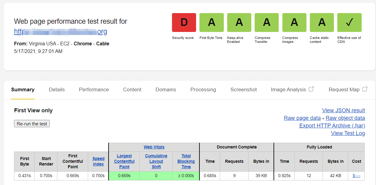 check rocket net performance